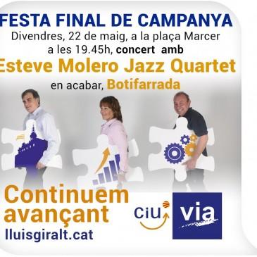 Lluís Giralt tanca campanya amb música i un sopar popular