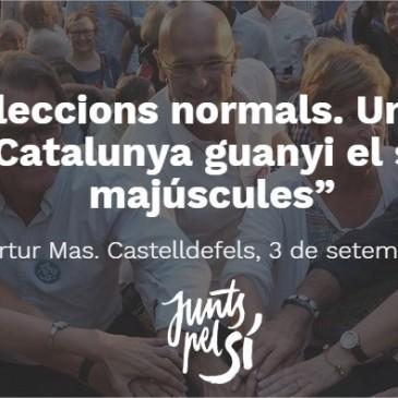 Que Catalunya guanyi el seu futur en majúscules!