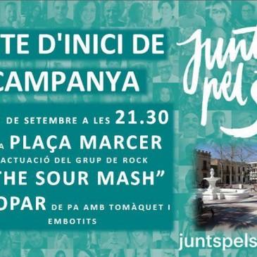 """Festa d'inici de campanya de """"Junts pel sí"""" a Sant Pere de Ribes"""