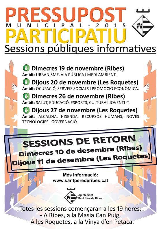 Cartell de les sessions participatives
